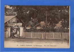 TAHITI - Pappete, La Gendarmerie, Aquarellée - Polynésie Française