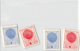 4 Gordon Bennet Balloon Stamps 1937 - Airships