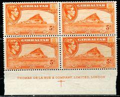 BG3463 Gibraltar 1947 George VI And Port Construction Block Of 4MNH - Altri