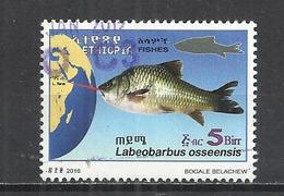 ETHIOPIA 2017 - FISH - LABEOPBARBUS OSSEENSIS - POSTALLY USED OBLITERE GESTEMPELT USADO - Poissons