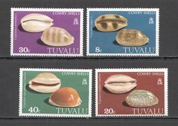 F787 TUVALU MARINE LIFE COWRY SHELLS 1SET MNH - Coquillages