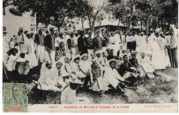 TAHITI Hyménée De MOOREA à PAPEETE Le 14 Juillet  (1910) - Polynésie Française