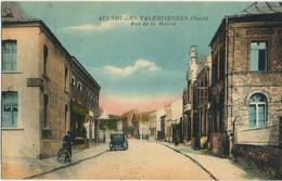 CPA 59 AULNOY-LES-VALENCIENNES Rue De La Mairie Rare - Aulnoye