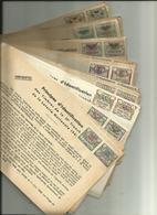 RARE PRINCIPES D IDENTIFICATION DES TIMBRES DE LA LOTERIE NATIONAL ANNEE 1945 43 FICHES - Billets De Loterie