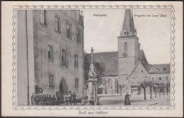 AK Gruss Aus Haßfurt Marktplatz Drogerie Von Josef Zehe, Ungelaufen - Hassfurt