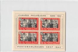 """Belgium 1942 - Erinnophily - Postzegeldagen Gent - Series """"Prisoners Of War"""" In Blocks - Ongebruikt"""