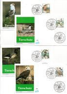 "BRD 4 Schmuck-FDC ""Tierschutz: Bedrohte Seevögel"" Mi. 1539/42 ESSt 4.6.1991 BONN 1 - FDC: Enveloppes"