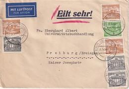 BERLIN 1954 PLI AERIEN POUR FREIBURG - Cartas