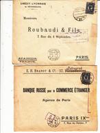 GUERRE 1914/18    8 Enveloppes 1916   Vers Paris  France   Scan  Recto Verso - 1857-1916 Empire