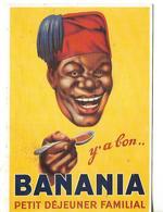 2 Factures 1977 + 4 Pub + 1 Carte CHOCOLAT BANANIA / 78 MAISONS LAFFITTE - Alimentaire