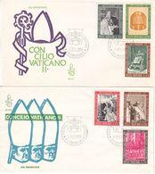 Vatican - Lettres De 1966 - Oblit Poste Vaticane - Papes - Covers & Documents
