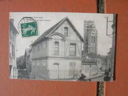 Cpa 9x14 DD V Beaumont Sur Oise Patronage St Saint Joseph échafaudage Sur Le Clocher Etat Correct - Beaumont Sur Oise