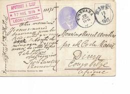 SH 0360. CP De DJUF (SUEDE) Affr. Au Dos - V. DIMA - Recto KINSHASA. TB - 1894-1923 Mols: Storia Postale