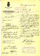 1902 CINGOLI LETTERA INTESTATA ARALDICA A FIRMA SINDACO + TONDO RIQUADRATO - Marcophilia