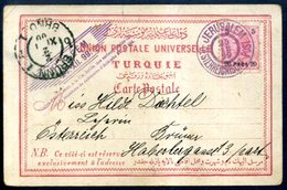 Austro-Hungarian POs In The Turkish Empire - Lettres & Documents