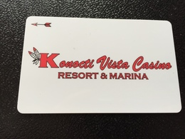 Hotelkarte Room Key Keycard Clef De Hotel Tarjeta Hotel  KONOCTI VISTA CASINO RESORT & MARINA LAKEPORT - Telefonkarten