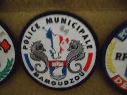RARE PATCH ECUSSON ORIGINAL MAYOTTE POLICE MUNICIPALE - Ecussons Tissu