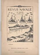REVUE NAVALE LE HAVRE 1928  PROGRAMME MARINE NATIONALE - Bateaux