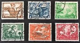 1933 Deutsche Nothilfe - Wagner Mi. 499, 500, 501, 502, 503, 504 - Germania