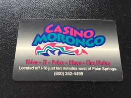 Hotelkarte Room Key Keycard Clef De Hotel Tarjeta Hotel  MORONGO CASINO RESORT - Telefonkarten