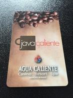 Hotelkarte Room Key Keycard Clef De Hotel Tarjeta Hotel  AGUA CALIENTE CASINO RESORT RANCHO MIRAGE - Télécartes