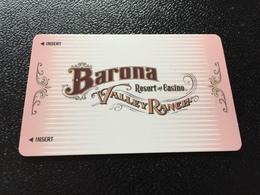 Hotelkarte Room Key Keycard Clef De Hotel Tarjeta Hotel  BARONA VALLEY RANCH SAN DIEGO - Télécartes
