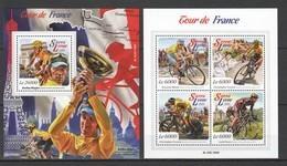 ST526 2015 SIERRA LEONE SPORTS CYCLING TOUR DE FRANCE 1KB+1BL MNH - Radsport