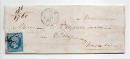 - Lettre SAINT-PIERREVILLE (Ardèche) Pour LE PUY (Haute-Loire) 24 JUIN 1861 - 20 C. Bleu Napoléon III Losange PC 3248 - - 1849-1876: Classic Period