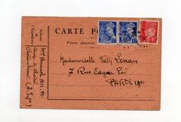 !!! CARTE DU CAMP D'INTERNEMENT DE CHOISEL CHATEAUBRIANT DE 1942 - 2. Weltkrieg 1939-1945