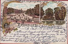 Zeer Oude Kaart Tres Vieille Carte CPA 1897 19de Eeuw  19ieme Siecle Stempel Cachet Bruxelles Brussel - Maaseik