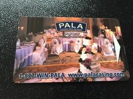 Hotelkarte Room Key Keycard Clef De Hotel Tarjeta Hotel  PALA CASINO RESORT - Télécartes