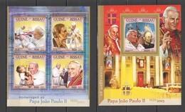ST905 2016 GUINE GUINEA-BISSAU RELIGION POPE JOHN PAUL II 1KB+1BL MNH - Papi