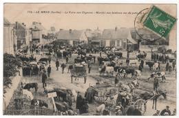 CPA 72 : 752 - LE MANS - La Foire Aux Oignons - Marché Aux Bestiaux - Attelages - Le Mans