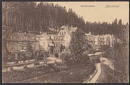 Marienbad Mariánské LáznÄ› Waldquellzeile Gelaufen 1918 Kurhäuser - Sudeten