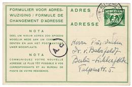 Adreswiziging Gzd 14 1943 - Postal Stationery