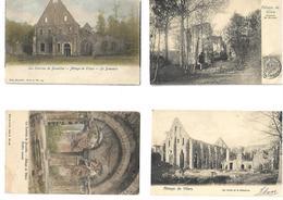 VILLERS LA VILLE     LOT DE 6 Carres Postales  Abbaye De Vilers - Villers-la-Ville