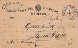ALSACE-LORRAINE 1875 CARTE DE STRASSBURG - Alsazia Lorena