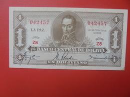 BOLIVIE 1 BOLIVIANO 1928 PEU CIRCULER (B.11) - Bolivie