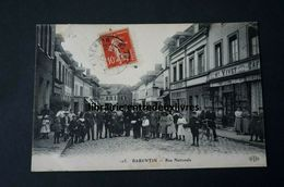 CPA 76 BARENTIN Rue Nationale Animée Peu Courante - Barentin