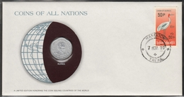 0132 - Numiscover / Enveloppe Numismatique - BIRMANIE / MYANMAR - 25 Pyas 1966 - Myanmar