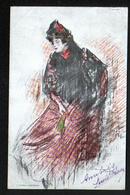 ILLUSTRATEUR Ou Editeur J Thomas Barcelona, Femme Espagnole - Autres Illustrateurs
