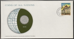0133 - Numiscover / Enveloppe Numismatique - BOLIVIE - 25 Centavos 1972 - Bolivie