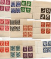 Série 1 ,N°526 à 537,armoiries De Ville,en Blocs De Quatre.Neufs - Ongebruikt