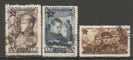 RUSSIE -  Yv N° 1105 à 1107  (o)  Armée Rouge  Cote 1,5  Euro  BE - 1923-1991 USSR