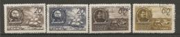 RUSSIE -  Yv N° 1111 à 1114  (o) Société De Géographie  Cote 5  Euro  BE  2 Scans - 1923-1991 USSR
