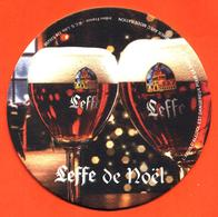 Sous Bock Ancien Coaster Bière D'abbaye Leffe De Noel Brasserie En Belgique - Dos Abonnement Leffervescence - Portavasos