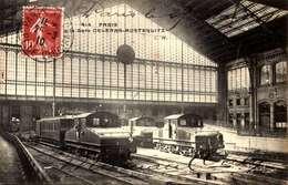 75] Paris > Métro Parisien, Gares GARE  ORLEANS   AUSTERLITZ  / TRAIN /LOT  4001 - Métro Parisien, Gares