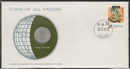 0135 - Numiscover / Enveloppe Numismatique - CHINE / TAIWAN - 1 Yuan 65(1976) - Chine