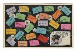 CPA FANTAISIE PRENOMS / LE NOM QUE JE PREFERE EST : - Fancy Cards