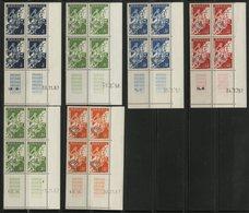 MONACO N° 11A + 12B (x2) + 13A + 15 + 17 Blocs De 4 Neufs ** (MNH) Coins Datés (voir Description) - Monaco